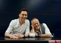 SDCC 2013: Tom Hiddleston & Director Alan Taylor sign at the Marvel booth Photos by Judy Stephens & Nicole Ciaramella