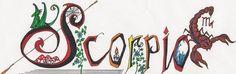 Scorpio Script by on DeviantArt Scorpio Horoscope, Script, Doodles, Deviantart, Script Typeface, Scripts, Donut Tower, Doodle, Zentangle