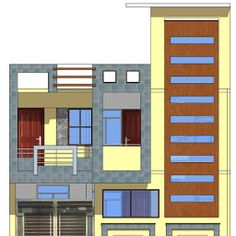 Narrow House Designs, Modern Small House Design, Modern House Plans, 3 Storey House Design, House Front Design, House Elevation, Front Elevation, Home Building Design, Building A House