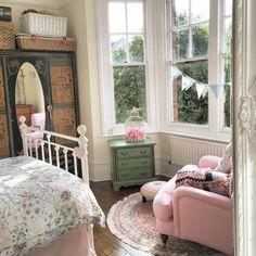 Victorian shabby chic bedroom