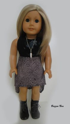 Sleeveless High Low Dress - American Girl Doll Clothes