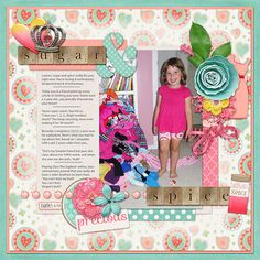 Kit: Sugar & Spice, Melissa Bennett and Amber Shaw, Sweet Shoppe Designs Template: Singled Out, Scotty Girl Design, Pixels and Co. Paint Wash, Julie Billings...