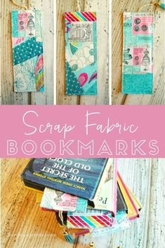 101 Handmade Days: Scrap Fabric Bookmarks These Scrap Fabric Bookmarks are just so cute! And those tassels add just the right touch! Get the details on how to make your own in this tutorial. Easy Yarn Crafts, Crafts To Do, Fabric Crafts, Sewing Crafts, Sewing Projects, Crafts For Kids, Paper Crafts, Scrap Fabric, Plaid Fabric