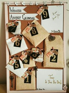 Wedding Advent Calendar for my bestie x