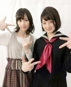 乃木坂46 (nogizaka46) the very cutie ikuta erika ( > _ <) and perfect sado nakada kana ^o^ ♥ ♥ ♥ ♥ ♥ ♥ ♥ ♥ ♥
