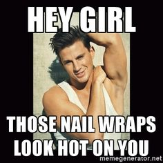 Hey girl, those nail wraps look hot on you!  #jamberry #channingtatum #nailwraps…