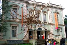 Artist Reena Kallat's public art installation at Dr. Bhau Daji Lad Museum, Mumbai opens to public from Mar 3, 2013 weaves powerful stories of Mumbai in the fragile form of a cobweb.