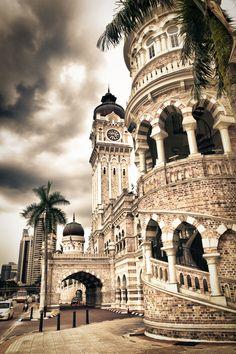 Sultan Abdul Samad Building which overlooks Merdaka Square in Kuala Lumpur, Malaysia