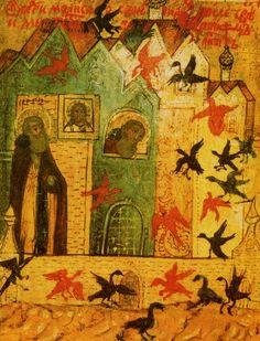 Икона - чудо о птицах.