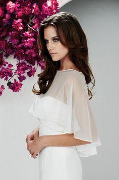 Hot Sale Bateau Bolero Chiffon Bridal Wraps White Wedding Wraps Jackets Ribbon Edge Bridal Lace Bolero Shrug Shawl from Lady_fashion,$20.95 | DHgate.com