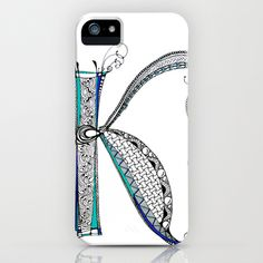 """K"" iPhone & iPod Case by Dany Delarbre 