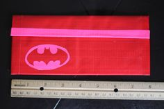 Batman Duct Tape Clutch Wallet Red and Pink by sisterscraftcorner, $12.00