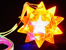 LED Blinking Star Ball Necklace - 4funparties.com