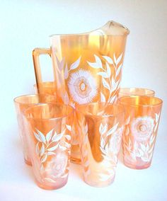 Hey, I found this really awesome Etsy listing at https://www.etsy.com/listing/172649499/peach-carnival-glass-carnival-glass