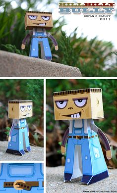 Hillbilly Bully Paper Toy - (With printable template)