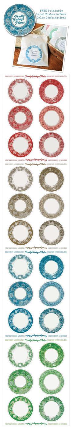 plates printable