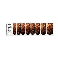 Beautiful Bronze Orange Brown glitters sparkles Minx ® Nail Stickers by #PLdesign #BronzeSparkles #SparklesGift