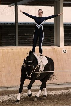 Equestrian vaulting. I always thought this was neat!