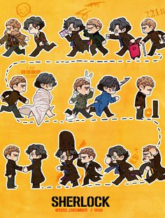 IT IS ALL OF THE EPISODES LOOK OMIGAWSH 'SHERLOCK' by YASU.