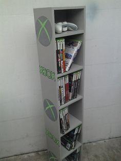 xbox, xbox shelf, gaming shelf,bookcase,