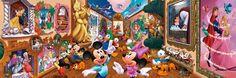 Japan+Tenyo+Disney+Jigsaw+Puzzle+Fantastic+Museum+D-950-584+Mickey+Minnie+Mouse
