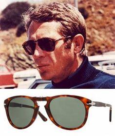 57f52952a27 Steve McQueen s Persol folding glasses Steve McQueen - The King of Cool The  iconic Persol sunglasses.
