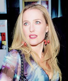 Hi, my name is Gillian Anderson and I'm just fucking stunning without trying.