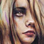 Michael Shapcott, graphite, acrylic, and oil