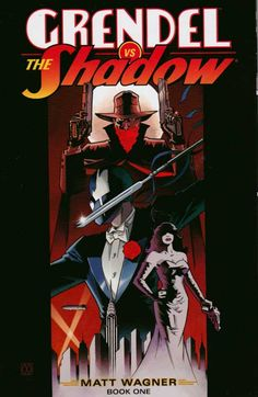 Grendel vs Shadow #1 Sep '14 (2014) Dark Horse Sparks fly and bullets blaze when the original Grendel, Hunter Rose, is transported to 1930s New York and faces off with the original darknight avenger, the Shadow! Regular Matt Wagner Cover.