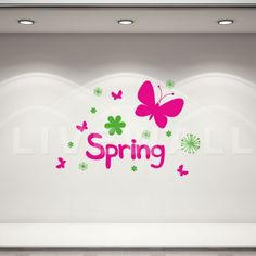 Αυτοκόλλητα βιτρίνας ανοιξιάτικα :: Vi -3 Decals, Spring, Home Decor, Tags, Decoration Home, Room Decor, Decal, Interior Decorating