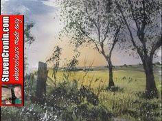 Painting a Summer Landscape in Watercolor with Susan Avis Murphy, AWS - YouTube