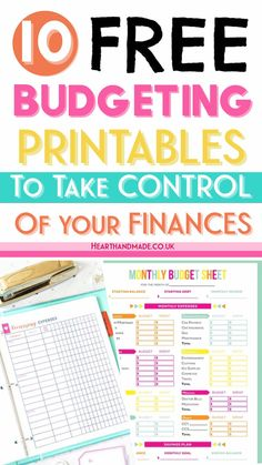 20 Fabulous and Totally Free Planner Printables Hand lettering/Bullet Journal Monthly Budget Sheet, Budget Sheets, Budget Binder, Free Planner, Printable Planner, Printable Budget, Planner Template, Happy Planner, Free Printables