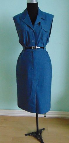 Vintage suit/ Vintage set with blue blouse and door Manrinavintage