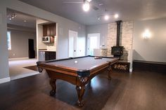 Garage Shop Rennovation to Billiards Room + Home Theater contemporary media room