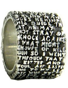 Dante Alighieri ring by Anne Fischer