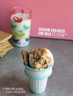 Graham Crackers and Milk Ice Cream