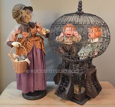 Hansel & Gretel, a recent commission piece. Crying brats in a cage, what could be better? © Rucus Studio 2013