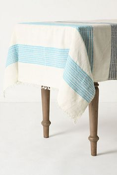 Dashed Azure Tablecloth #anthropologie