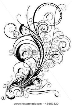 swirly Clip Art | Swirl Floral Design Stock Vector 48653320 : Shutterstock