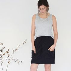 Midweek mood  | Danika wears the Relaxed Tank and Gather details skirt. Available online now xx