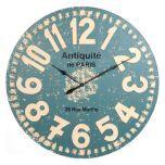 Distressed Blue Wood Clock | Kirkland's