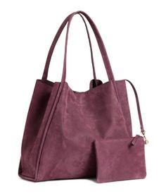 Nupukkinen ostoslaukku | Luumu | Naiset | H&M FI
