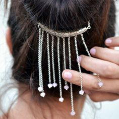 Learn how to make this beautiful hair jewel...it's easy!