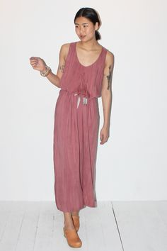 No.6 Obsidian Inverted Pleat Dress in Blush – Now on Sale