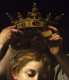 Bartolomeo Cavarozzi:  Virgin and Child with Angels (detail), c.1620