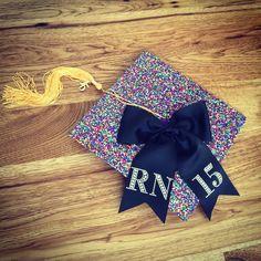 Decorated cap✔️...looks like I'm all set to #graduate #graduation2015 #RN #weberstate #graduationcap #thetasslewasworththehassle #nurse