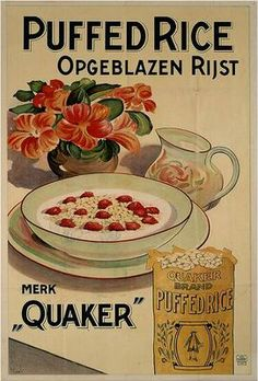 1925 Quaker Puffed Rice cereal advertisement