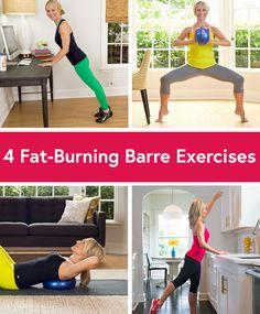 4 Fat-Burning Barre Exercises #fitness #barre