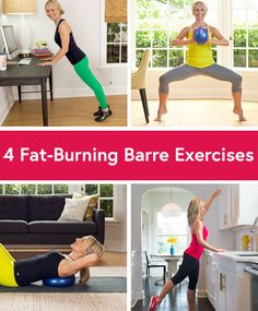 4 Fat-Burning Barre Exercises  #fitness #barre