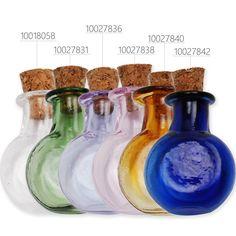 10pcs Small Glass Vials with Cork Glass Bottle Tiny Bottles,Multicolor #Rosebeading